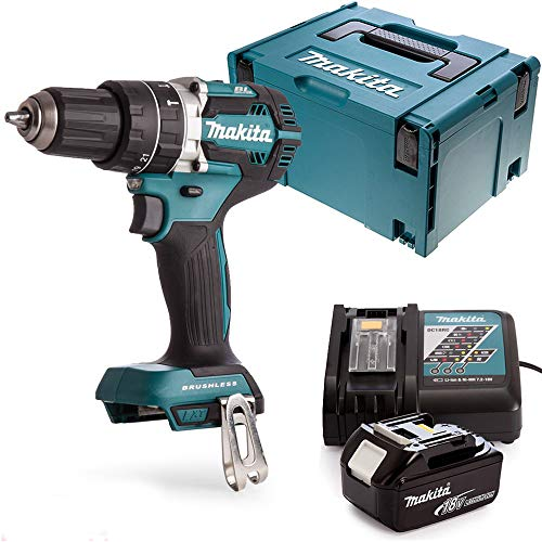 Makita DHP484 18v Brushless Combi Drill + 1 x 5Ah Battery, Charger, Case & Inlay