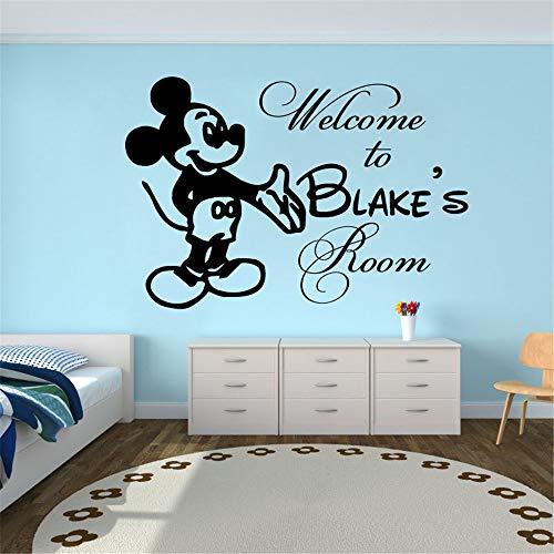stickers muraux nuage Mickey Mouse Nom de la chambre Décor mural