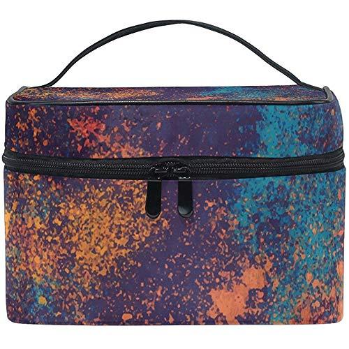 Kleurrijke, abstracte make-up tassen voor onderweg met de multifunctionele reistas.