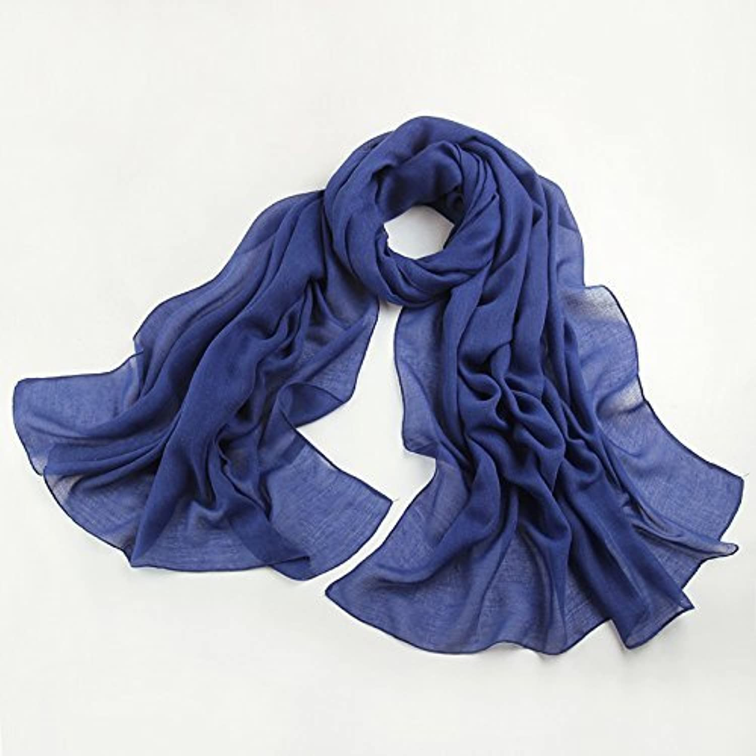DIDIDD Scarfthe summer spring and autumn sun solid mianma scarf lady airconditioned warm shawl
