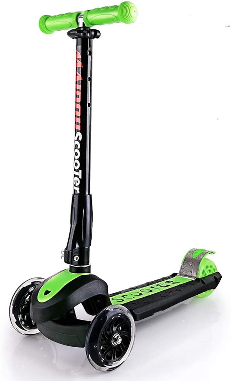 promocionales de incentivo WYFDM Scooter, Scooter, Scooter, 3 Ruedas Micro Mini Kick Scooter con Asiento Extraíble, Manillar Ajustable para Todas Las Edades,verde  entrega rápida