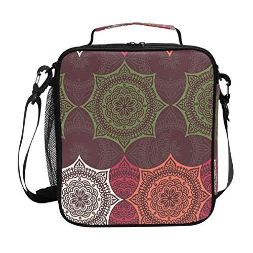 MALPLENA Color Mandala Bohemia Bolsa térmica para almuerzo bolsa de almuerzo lonchera paquete de comida