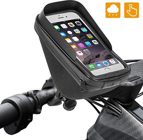 Premium mobiele telefoonhouder fiets waterdicht - universeel - fietsstuur - smartphone-houder fiets bike motorfiets Phone - houder fiets - met extra opbergruimte