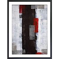 (アートフレーム) Abstract Art Red and Grey Abstract Art Painting