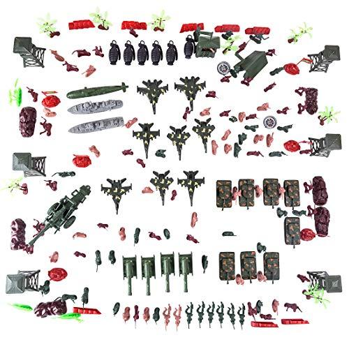 VenGo 167Stück Mini Figuren Set Soldaten Strategie Spiele Miniatur Militär Modelle Spielzeug Set für Kinder