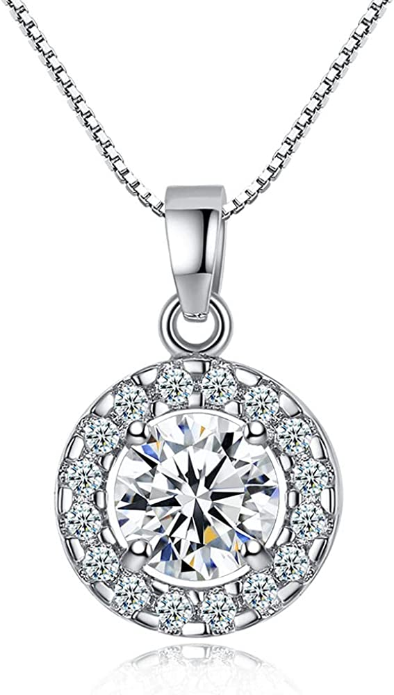Zircon Necklace and Earring Set Jewelry Set Zircon Round Ladies Party Suit for Party Wedding Work Nice Gift for Girls