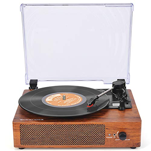 Cheap Record Player Turntable for Vinyl Records 3 Speed Vinyl Record Player with Stereo Speakers Belt Driven Vintage Record Player Vinyl Player