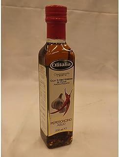 Olitalia Olio Extra Vergine di Oliva con Peperoncino & Aglio 250ml Flasche Extra natives Olivenöl mit Peperoni & Knoblauch