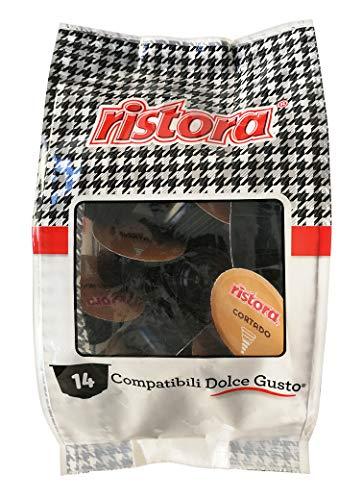 Ristora Capsule Compatibili Dolce Gusto - Cortado - 8 confezioni da 14 capsule, Totale: 112 Capsule