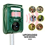 Best Solar Pest Repellers - Broox Solar Animal Repeller, Ultrasonic Animal Repellent Outdoor Review