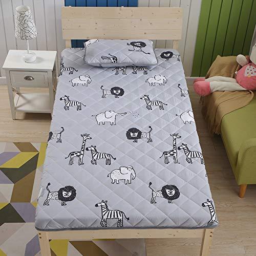 MPBYOU Breathable Tatami Mattress Mat Sleeping Pad Floor Futon Mattress Topper Foldable Japanese Bed Roll Travel Vacation Picnic Home Dorm