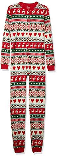 Hatley Organic Cotton Long Sleeve Printed Pyjama Sets Conjuntos de Pijama, Blanco (Mistletoe Deer 100), 5 años (Talla del Fabricante: 5) para Niñas