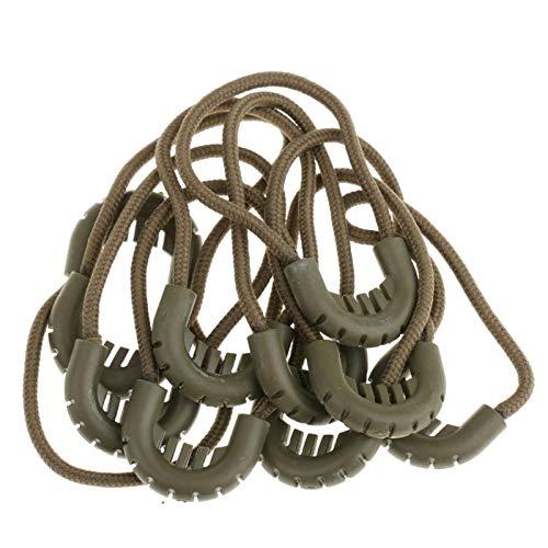 Leluo LRrui-Cremallera única Cremallera 10x, Tira de Cuerdas de Cuerda con Extremos Zip, para Ropa/Bolsas Ropa Deportiva Accesorios, Accesorios de Costura (Color : Army Green 65mm)