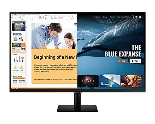 """Smart Monitor M5 27"""", Dalle VA 27"""", Risoluzione FHD (1920 x 1080), HDR10, Tizen, Smart Hub, Nero"""