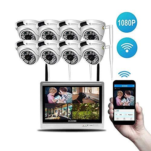 TLMYDD Cámara CCTV Inalámbrica con Monitoreo Remoto Cámara De Seguridad For El Hogar De 8 Vías, Detección Dinámica Y Alerta De Correo Electrónico Instantánea Cámara de Seguridad (Size : A+2TB)
