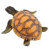 collectsound Acuario realista tortuga falsa no tóxica resina sintética simulación ornamento pecera paisaje decoración amarillo