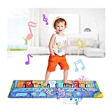 YUHT Piano Mat, Kids Touch Play Game Dance Music Blanket Alfombra Mat, Kids Music Mats, 10 Piano Touch, 8 Instrumentos Musicales Dance Mat