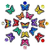 Butterfly Shoe Charms Fits for Shoes Bracelets Wristbands, PVC Charms Decoration for Women Party Favor Gifts (24PCS)