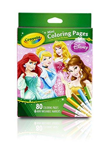 Crayola 04-5055 - Princess - 80 Mini Blätter zum Ausmalen