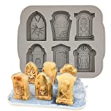 Halloween Molds Tombstone Silicone Ice Cube Tray RIP Gravestone Ice Molds Silicone Coffin Resin Mold Halloween Candy Chocolate Mold Baking Kitchen Supplies