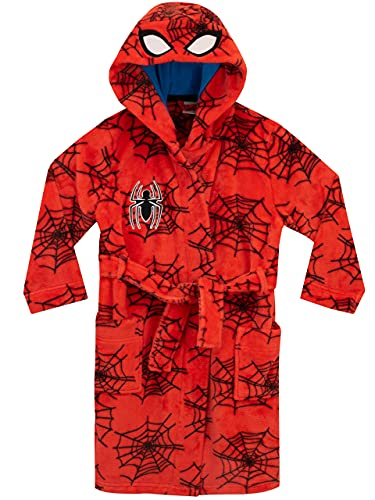 Marvel Boys' Spiderman Robe Size 7 Red