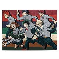 ヒーローアカデミー アニメパズルセット子供用パズル環境保護デコレーション500(Psc)38 Cm * 52 Cm
