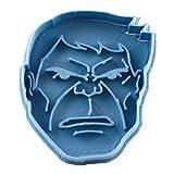 Cuticuter Superheroes Hulk Moule de Biscuit, Bleu, 8x 7x 1.5cm