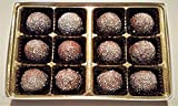 Rum Filled Milk Chocolate Flavored Petite Truffles Gift Box (12 Pcs)