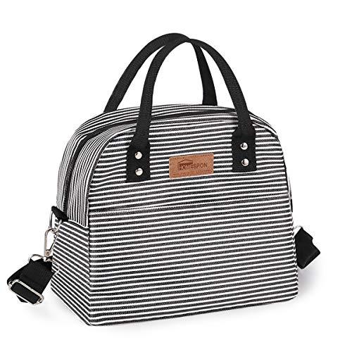 HOMESPON Isolierte Lunch Bag Cool Bag für Lunch Boxes Wasserdichtes Gewebe faltbare Picknick-Handtasche für Frauen, Erwachsene, Studenten und Kinder
