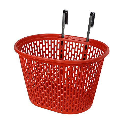 QHGao Fietsmand, draagbaar plastic mesh-mandje, boodschappentas opknoping stuur mandje, afneembare grote capaciteit zon bescherming fiets mandje, antiqueezing