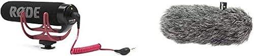 Rode Microphones VideoMic GoMicrófono de Condensador para cámara DSLR, Jack 3.5 mm, Color Negro + DeadCat GOFunda ant...