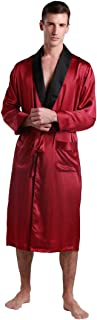 Silk Robe Men Lightweight Black Collar 22 Momme 100% Real Mulberry Lounge Wear Luxury Vintage