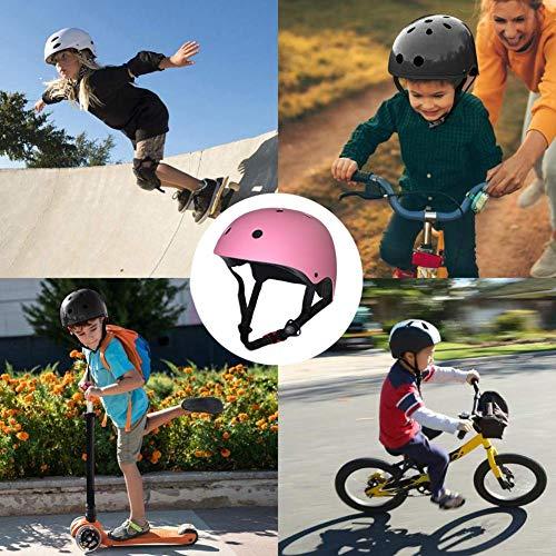 Juego de casco Equipo de protección para niños, Patinaje sobre ruedas Patinaje...