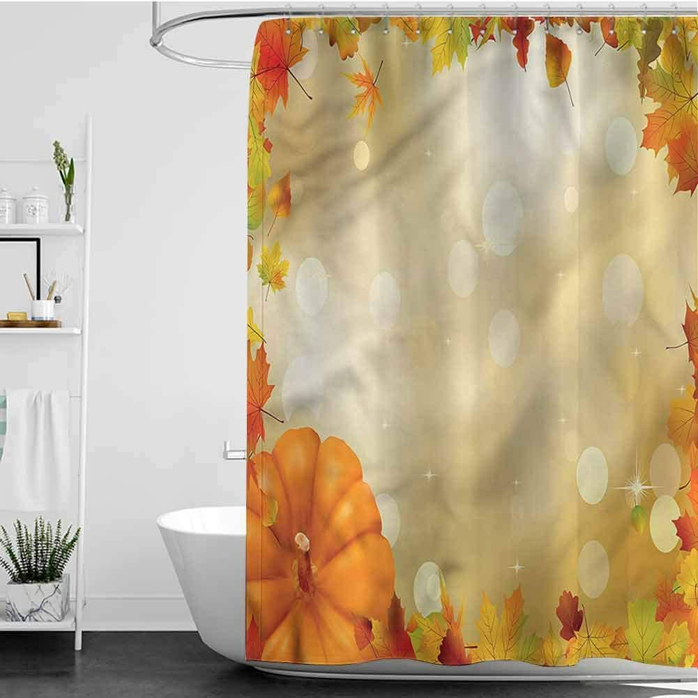 SKDSArts Shower Curtains Liners Maple Surprise Direct sale of manufacturer price Leaves L7 INCH x Bokeh W60