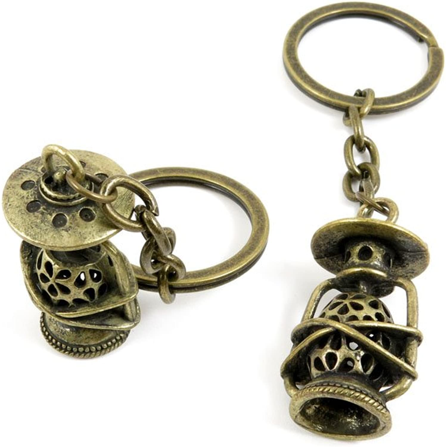 70 Pieces Fashion Jewelry Keyring Keychain Door Car Key Tag Ring Chain Supplier Supply Wholesale Bulk Lots L5RO4 Hollow Lantern