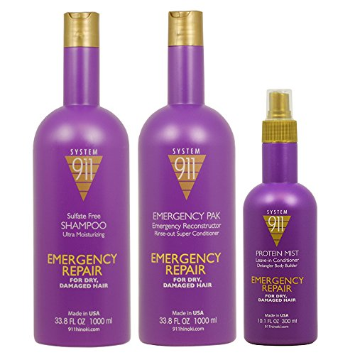 Hayashi System 911 Shampoo & Emergency Pak 33.8oz & Protein Mist 10.1oz'Set'