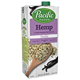 Pacific Foods Hemp Vanilla Plant-Based Beverage, 32 Fl Oz (Pack of 12)