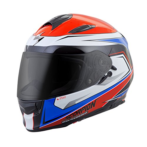 ScorpionExo Unisex-Adult full-face-helmet-style EXO-T510 Helmet (Red/Blue,X-Small), 1 Pack