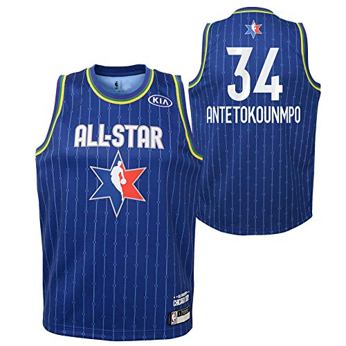 Youth 2020 NBA All-Star Game Giannis Antetokounmpo Blue Swingman Jersey Youth Sizes (Youth Medium (10/12))