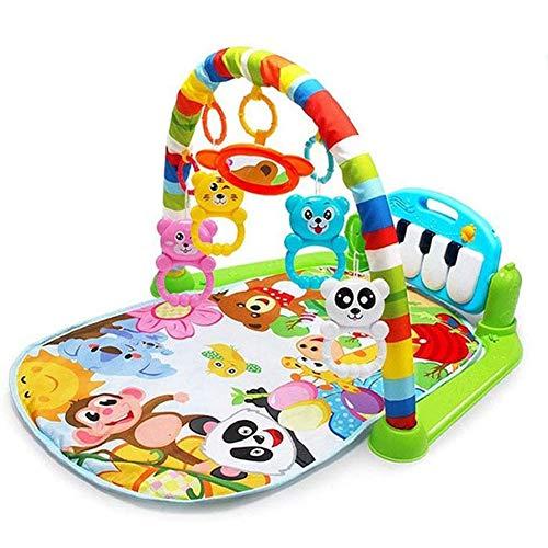 Baby Gym Tapis De Jeu Piano, Jouets Musicaux Centre D'activités avec SOFE Lights and Rattle pour Bébé Mois 1-18