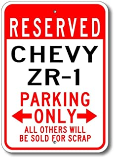 Pealrich ZR-1 Parking Sign, ZR-1 Sign, Chevy ZR-1, Chevy Zr-1 Parking Signs, Zr-1 Sign, Zr-1 Gift, Zr-1 Car, Chevrolet, Metal Chevy Parking Sign