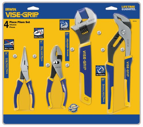 IRWIN VISE-GRIP Pliers & Wrench Set, 4-Piece (2078705)