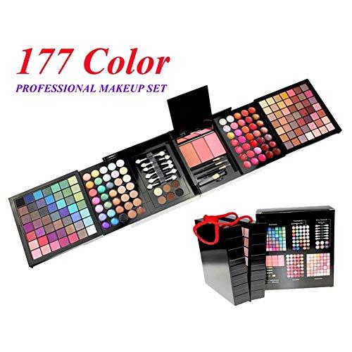 177 Farben Glänzende Und Matte Lidschatten-Palette (98 Lidschatten, 35 Lipgloss, 21 Lidschatten, 14...