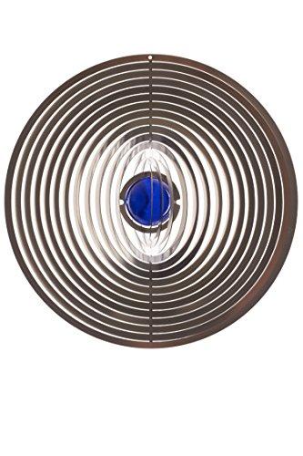 A2003 – steel4you hochwertiges 3D Windspiel aus Edelstahl mit Glasperle – Kreis 15cm x 15cm – made in Germany - 6