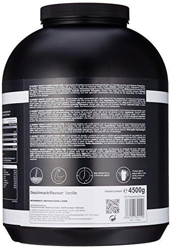 Mammut Weight Gainer Crash 5000, Kohlenhydrate Masseaufbau Kreatin, Vanille , 4.5 kg, 1er Pack - 3