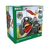 BRIO World 33889 Große Goldmine mit Sound-Tunnel – Zubehör für die BRIO Holzeisenbahn – Kleinkinderspielzeug empfohlen für Kinder ab 3 Jahren