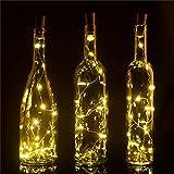 20 Stück Flaschenlicht Weinflaschen Lichter Kork Weihnachten Flasche Dekoration 200cm 20LEDs Lichterkette DIY Batteriebetrieben Stimmungslichter für Weihnachtsdeko Garten Party Schlafzimmer Tischdeko - 5