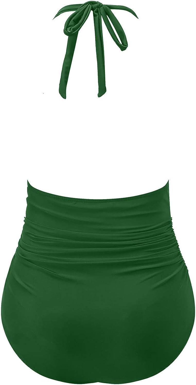 I2crazy Womens One Piece Swimsuits Tummy Control Swimwear Backless Deep V Neck Halter Monokini Bathing Suits