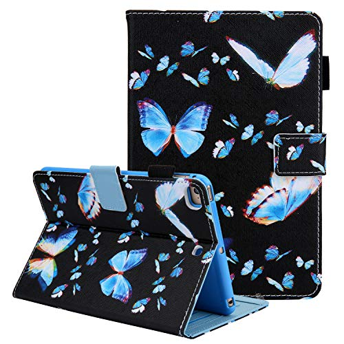 Case for iPad Mini 5th Gen 7.9' Tablet, iPad Mini 4 3 2 1 Cover Shell, Coopts Premium PU Leather Stand Folio Smart Case with Pencil Holder for iPad Mini 5th 4th 3rd 2nd 1st Gen Tablet,Flying Butterfly