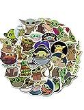 CHLD 100 pegatinas de bebé Yoda, incluye la etiqueta engomada mandaloriana con Yoda Baby (Mandaloriano)